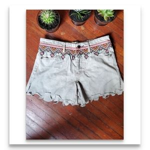 New free people  tribal embroidered shorts